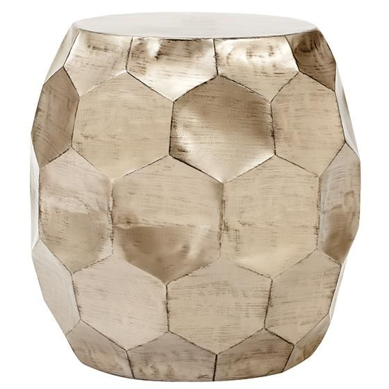 Honeycomb Accent Table - Metal Accent Table - Side Table - End Table   HomeDecorators.com   $169.   I love this so much I think im going to order it for my room