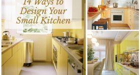 Sizin Küçük Mutfak Tasarım 14 Ways