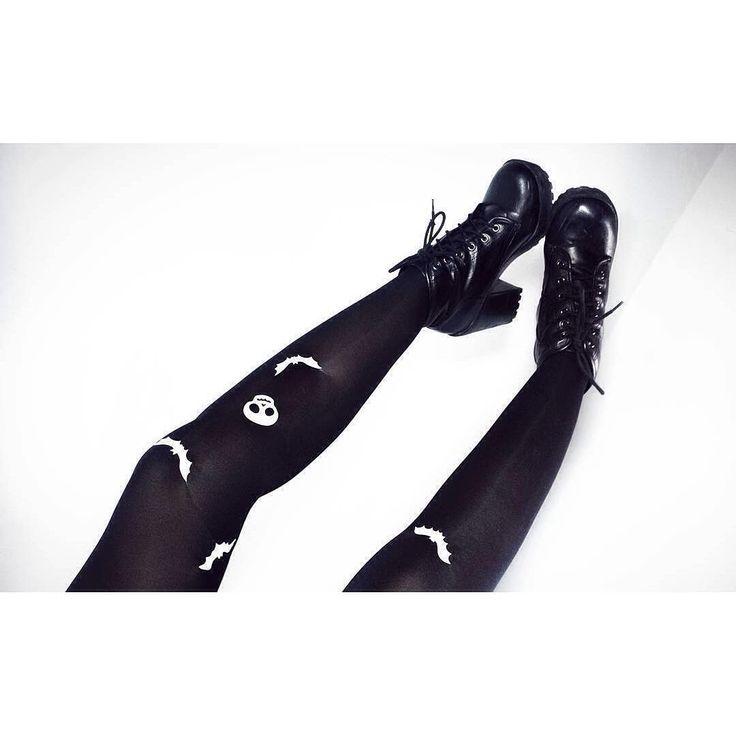 Glow in the dark bat tights ☠🕸  from @tavujesus on instagram