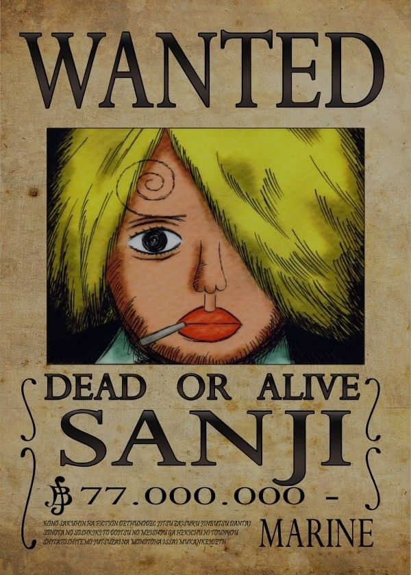 One Piece Wanted Posters Sanji Displate Artwork By Artist Nicolas Massot Part Of A 9 Piece One Piece Drawing One Piece Bounties One Piece Wallpaper Iphone