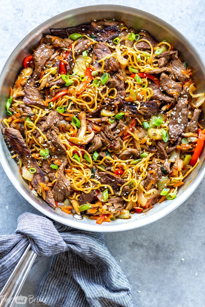Beef Ramen Noodle Stir Fry Recipe Sirloin Recipes Beef Ramen