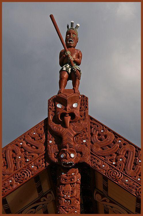 Tama-te-kapua - captain of the Te Arawa canoe, Te Papaiouru Marae, Ohinemutu one of my many marae