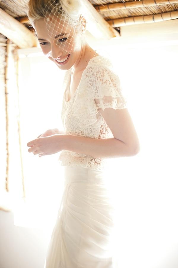 What a unique wedding dress