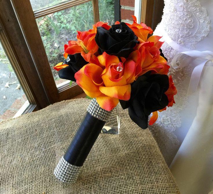 Halloween Wedding Bouquets: Halloween Bouquet, Orange Black Bouquet, Orange Black