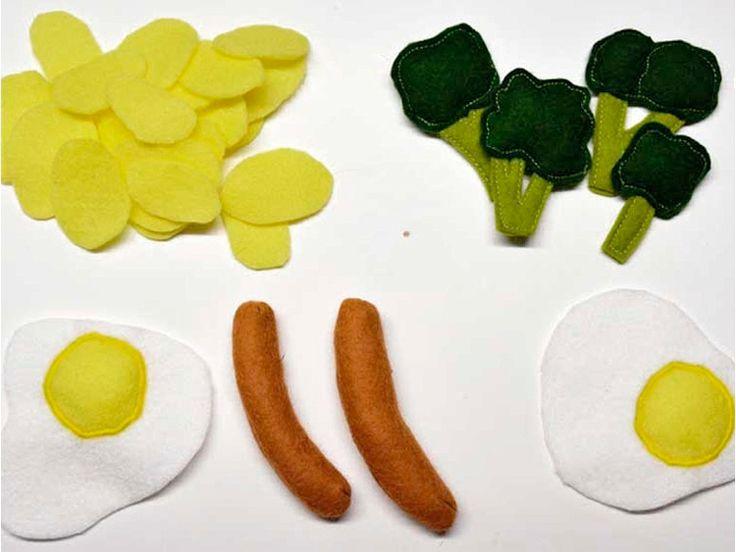 Tutoriel DIY: Coudre des aliments en feutrine pour dînette via DaWanda.com
