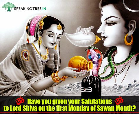 """On the first auspicious Monday of """"Sharavan Maas"""", the holy month of Hindu Calendar dedicated to Lord Shiva. Let's pray and almighty will bless us all with loads of happiness."""