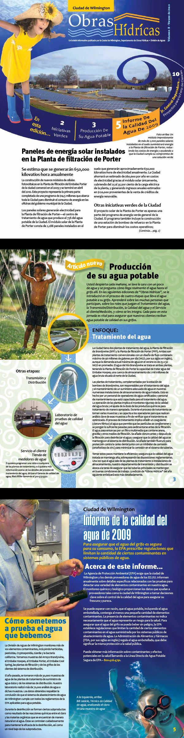 best images about professional work graphic design on city of wilmington water quality report en espantildeol cover and two sample pages