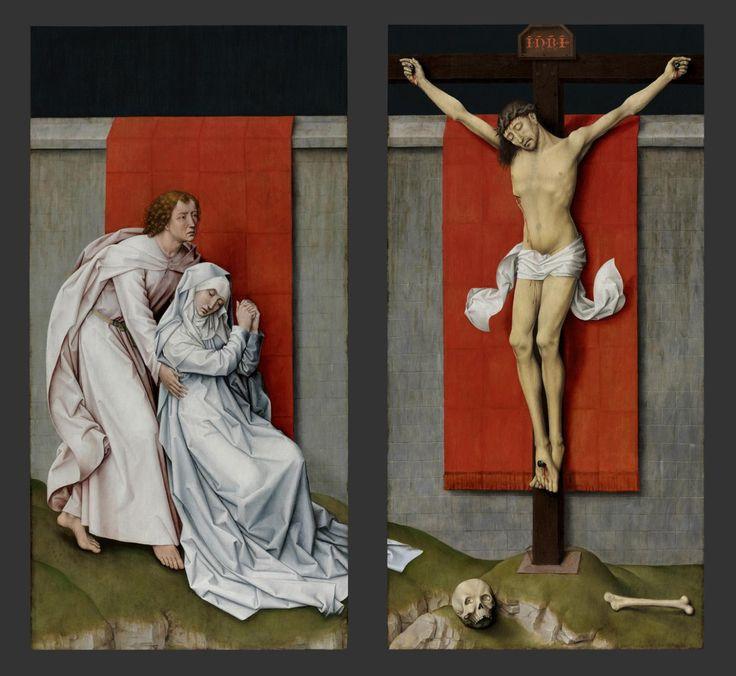 Rogier van der WEyden, Crucifixion with the Virgin and St. John ...