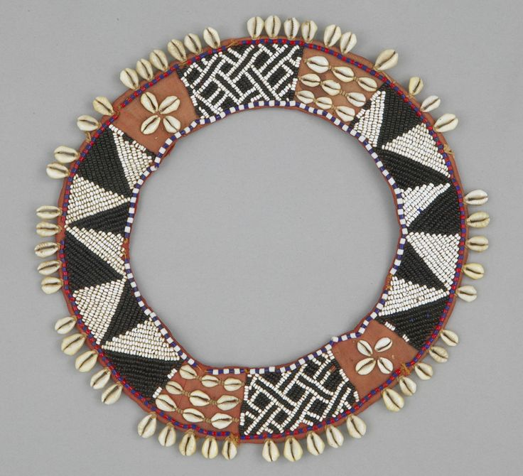 Neck ornament kenya mid 20th century textile museum of for How to make african jewelry crafts