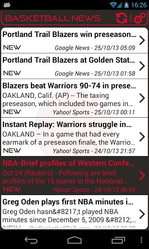 You are Portland Trail Blazers fan, get all news about your favorite team by:<br>- Configuring automatic update with personalized parameters: Notification, Time slot, Frequency...<br>- Getting instantly notified when a news is released: Sound, Vibrate, LE