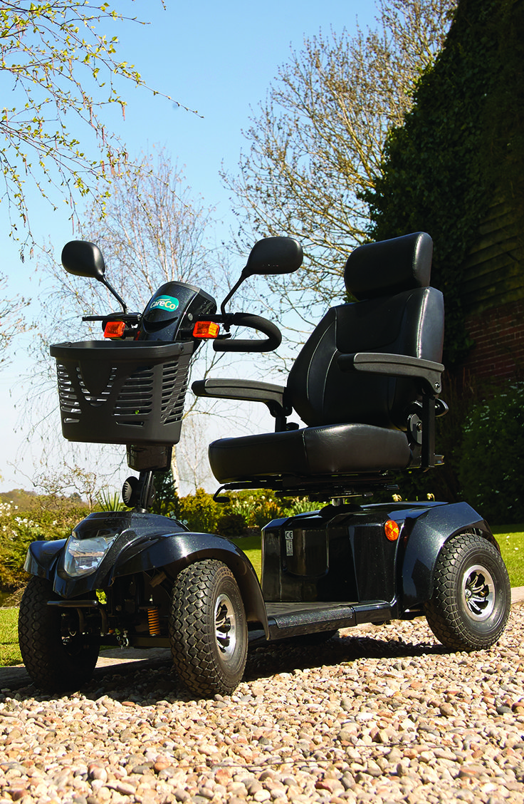 The most powerful mobility scooter from CareCo the Daytona XLR is capable of travelling on the road. With a whopping 30 miles range the Daytona can take almost anywhere and with suspension every journey is a pleasant.