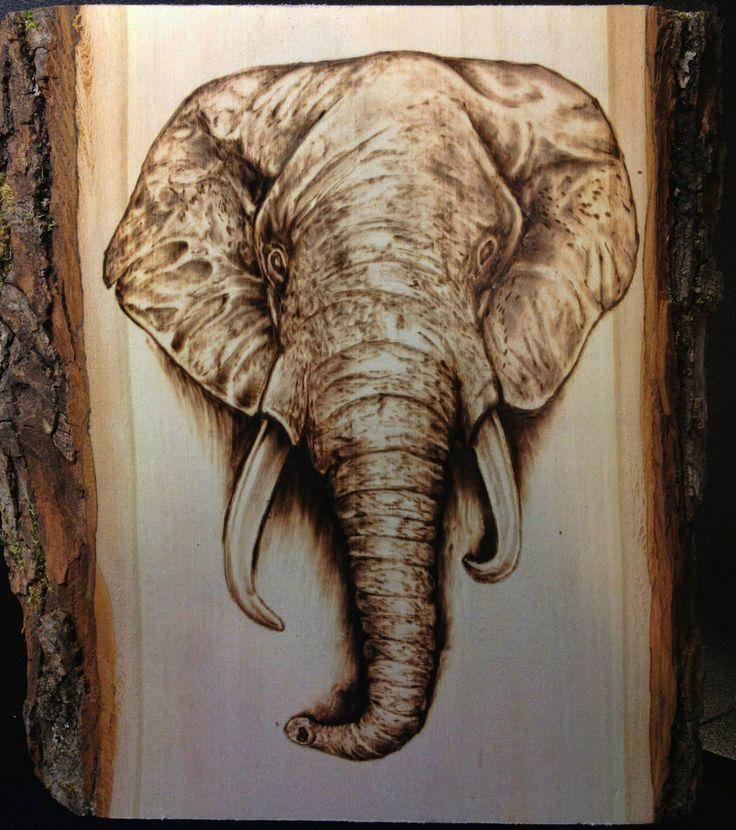 Elephant Wood Burning Pyrography Scrimshaw Engraving Amp Etching