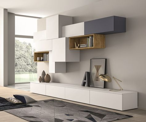 Sectional Lacquered Storage Wall SLIM 88 Slim Collection By Dallu0027Agnese |  Design Imago Design