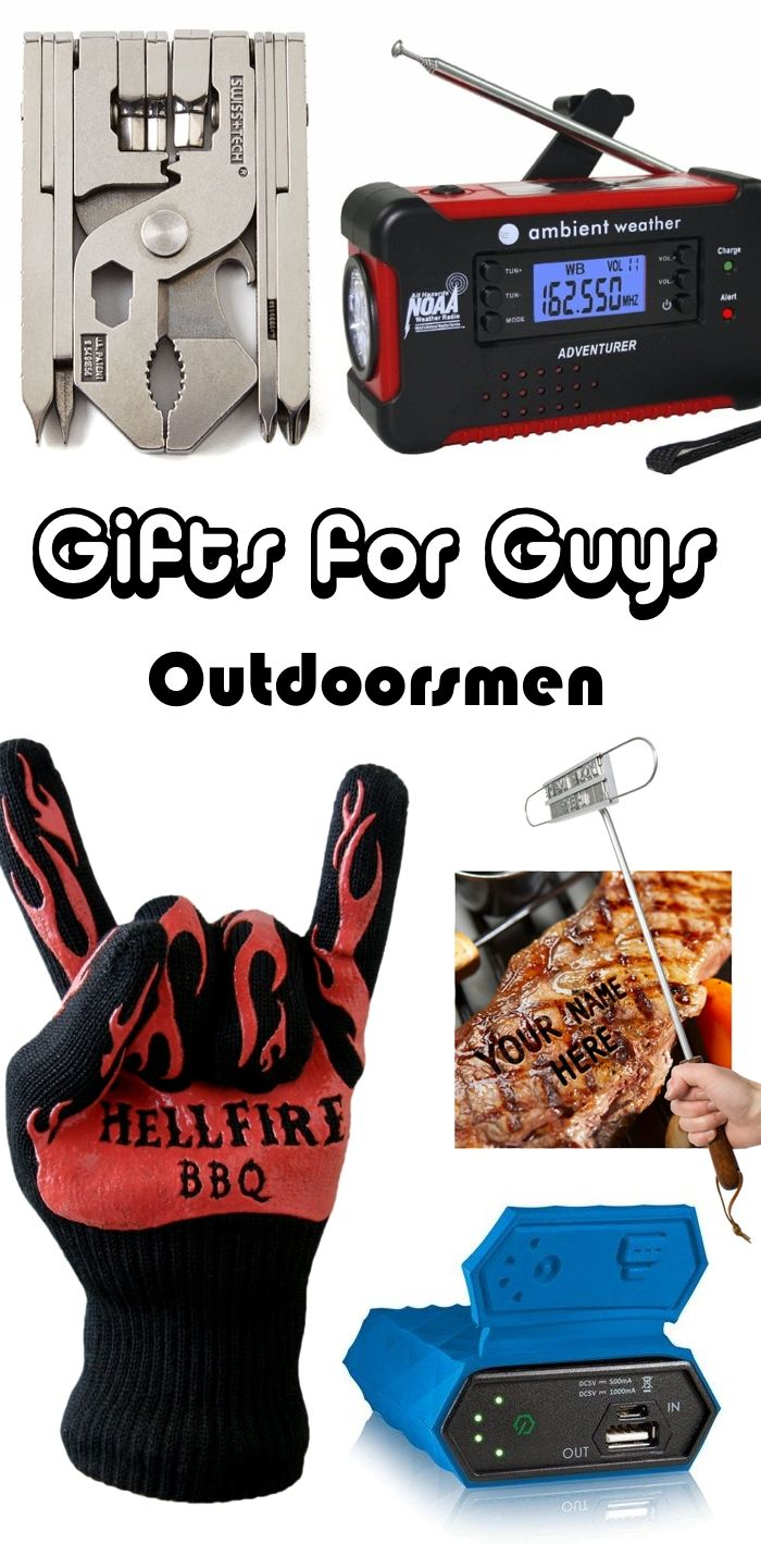 Know a guy who loves outdoorsy stuff like camping and grilling? Here are a few great gift ideas for guys who are outdoor enthusiasts!