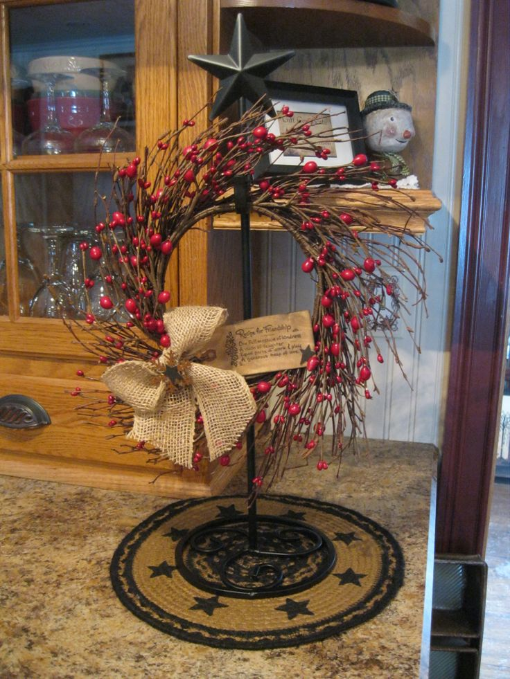 Wreath Holder Similar To This One At Cracker Barrel Old
