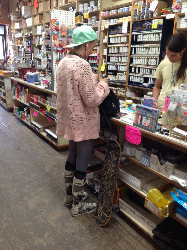 Art supply shopping skater girl