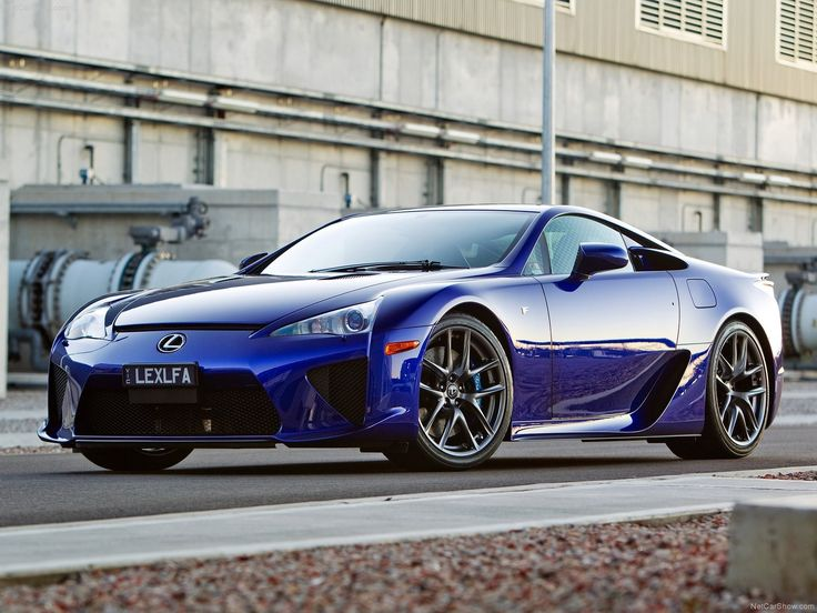 blue cars Lexus LFA