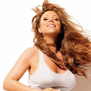 """Fresh on my blog: Mariah Carey is recovering at home following a nasty fall and dislocated  shoulder sustained while filming video for ANOTHER remix of  """"#Beautiful"""". #getwellsoon"""