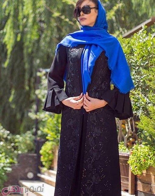 مدل مانتو بلند مجلسی مانتو مشکی جلو باز حجاب In 2019