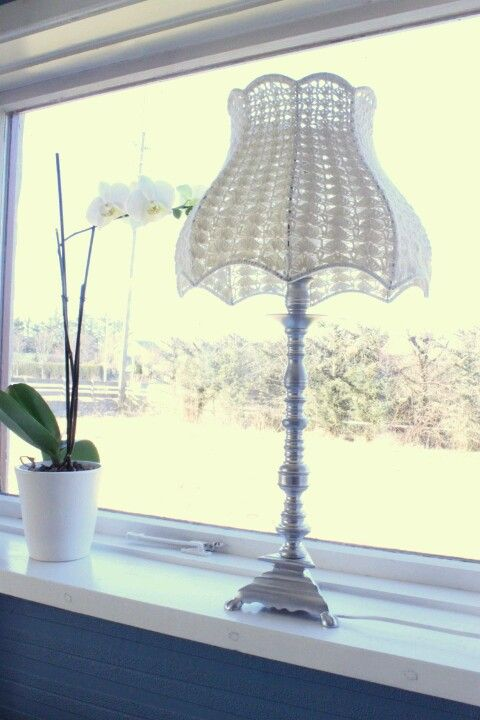 Crocheted lampshade - got a similar one.