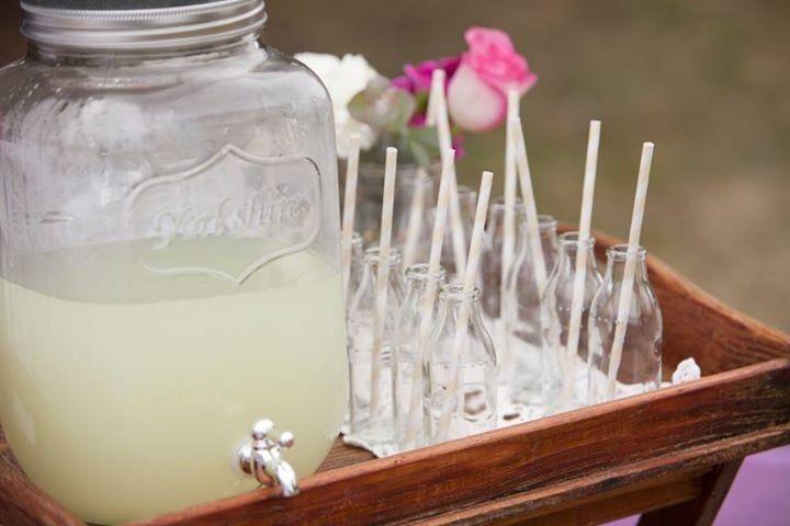 Vintage tea party lemonade stand