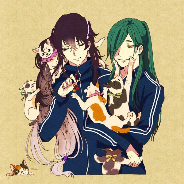 Touken Ranbu - Juzumaru Tsunetsugu x Nikkari Aoe 青江派と猫