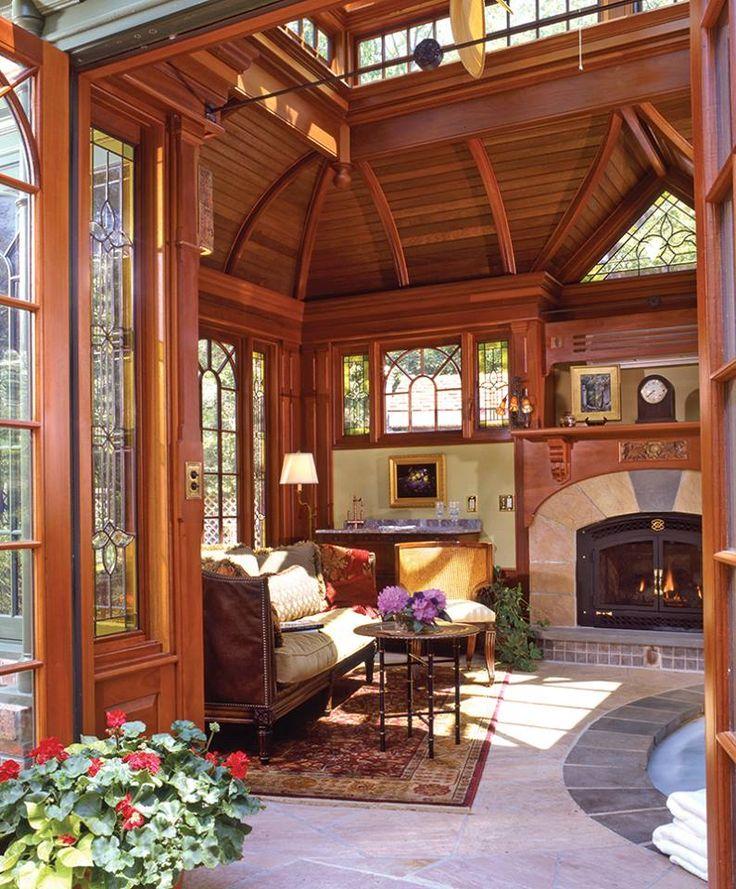 sunroom-furniture-ideas-Sunroom-Craftsman-with-2-over-2-windows - wohnwintergarten wintersonne verglasung