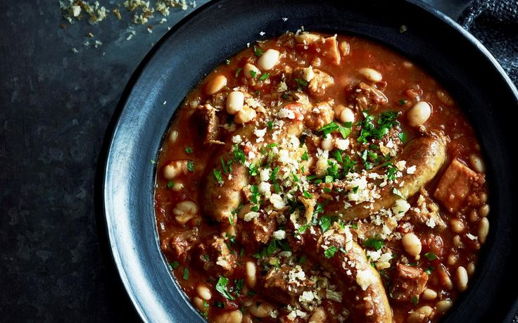 Slow-cooker lamb cassoulet recipe - By Australian Women's Weekly, This tender and moist slow-cooker lamb cassoulet is the perfect option for dinner tonight - warm, hearty and delicious.