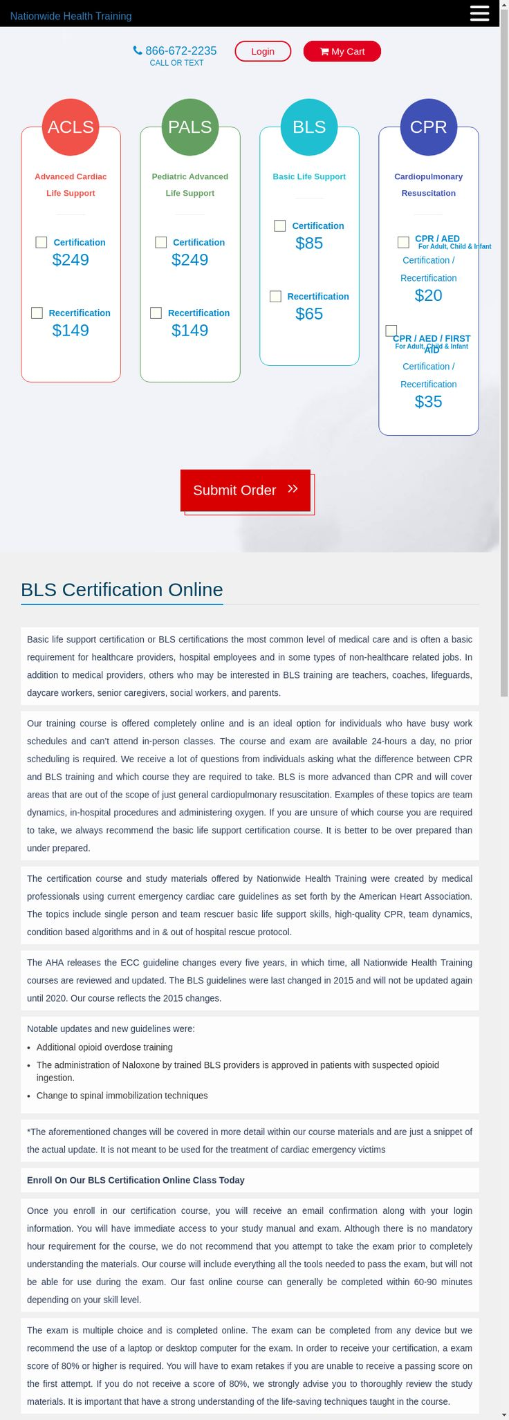 Get BLS Certification Online or renew your BLS the easy