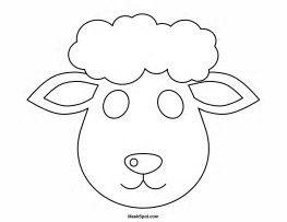 Bildergebnis für Sheep Face Mask Template