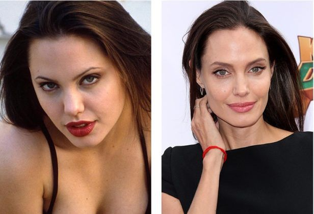 """Who knows how the acting career of Angelina Jolie would develop, do not """"work"""" would be a beauty over her face. No doubt, Angie has always been an attractive girl, but the nose plastic and the correction of the shape of the cheekbones and at all brought her to the pedestal. Thanks to skilled surgeons!"""