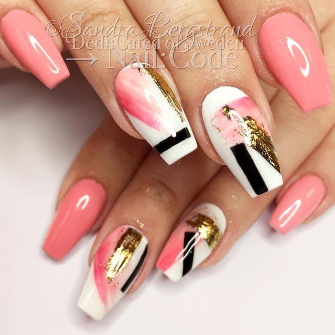 21 Ideas For Gorgeous Nails With Gold Foil Designs - Best 25+ Gorgeous Nails Ideas On Pinterest Matte Nail Designs