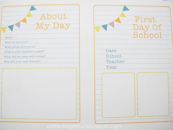 First Day Of School Keepsake and Interview by alittledelightful, $7.00