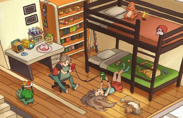 Pokémon FireRed and LeafGreen Artwork Gallery