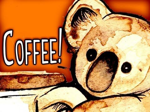 Coffee Koala - Mary Doodles coffee painting - YouTube