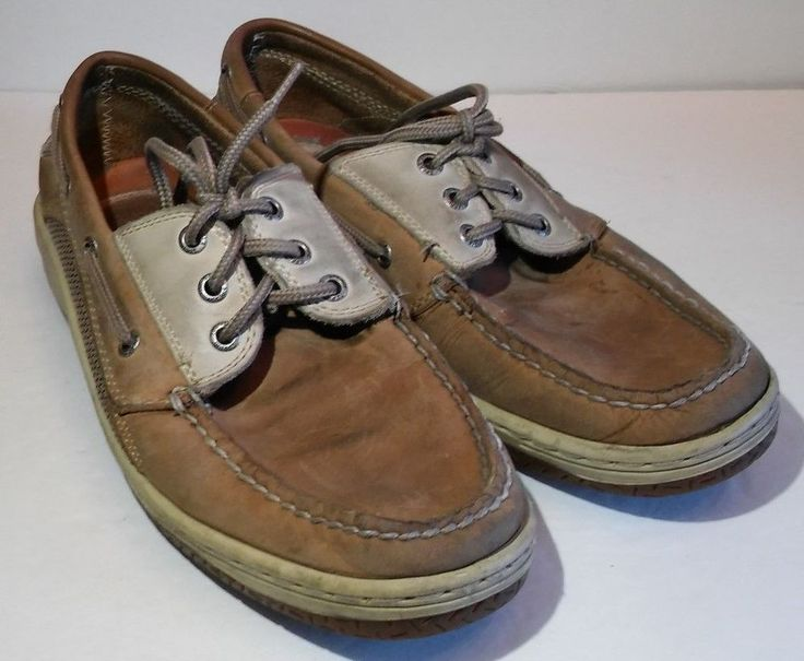 Sperry Top Sider Loafers Boat Deck Shoes Mens Sz 9 M Brown Leather #SperryTopSider #BoatShoes