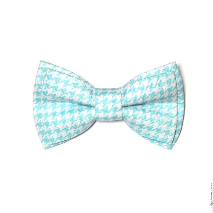 Купить Галстук бабочка Гусиная лапка мятного цвета / Бабочка галстук мятный