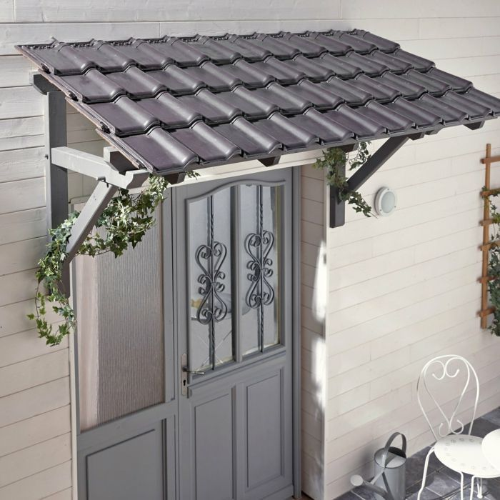 Auvent En Kit Pour Porte D Entree Porch Roof Design Awning Over