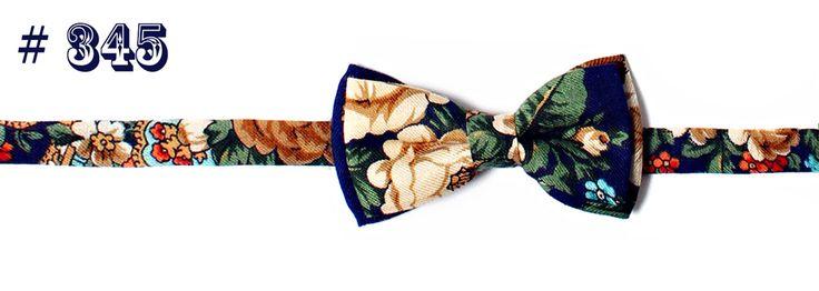 Hemd Fliege #345 Unikat mit Paisley-Muster aus 100% Wolle, blau | Shop à la Russe