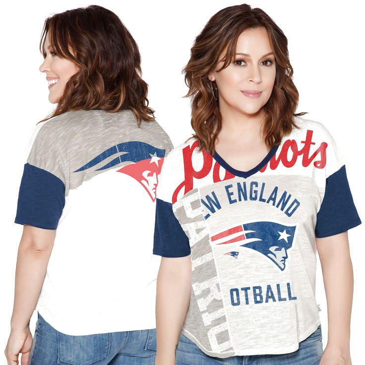 New England Patriots Touch by Alyssa Milano Women's Touch Power Play T-Shirt - Cream - $31.99