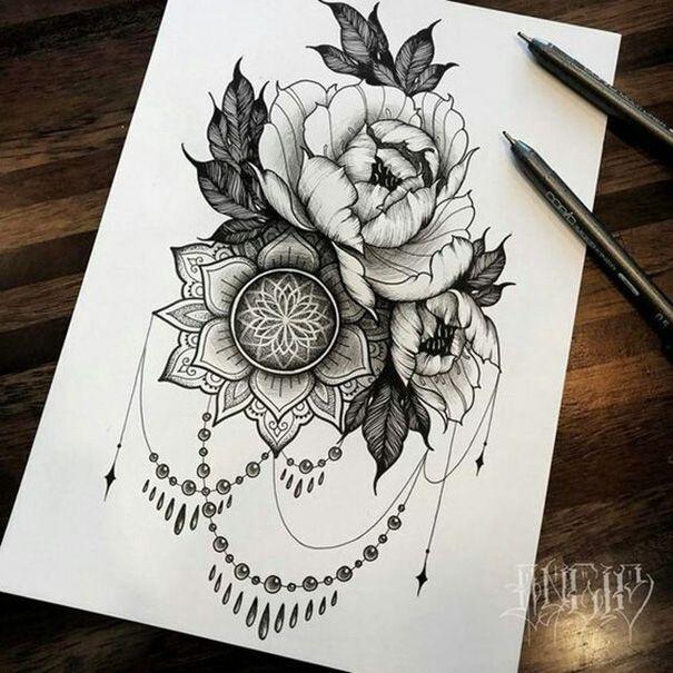 Top 40 Tattoo Skizzen – Neue Tatto Designs 2018 #tattoos