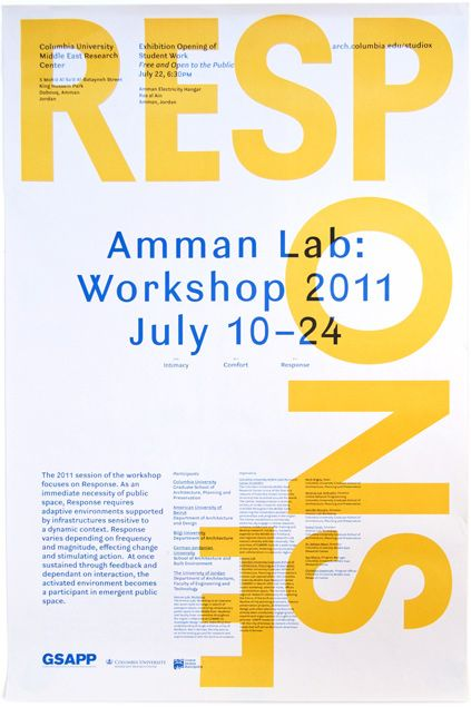 Studio X Amman Workshop 2011 Poster