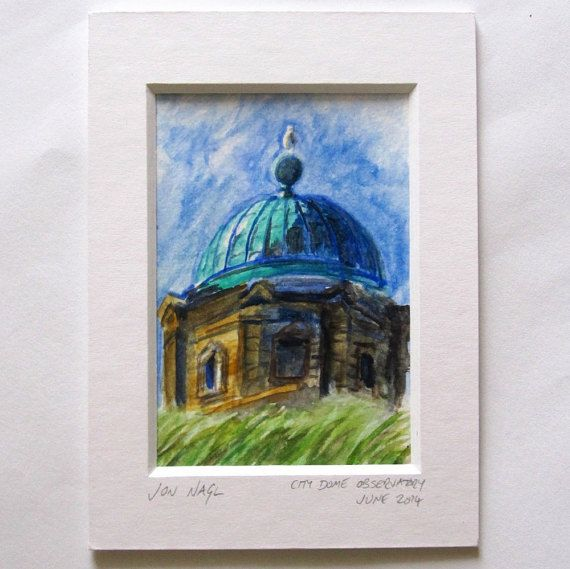 City Dome Observatory June 2014 original watercolour by jonnagl