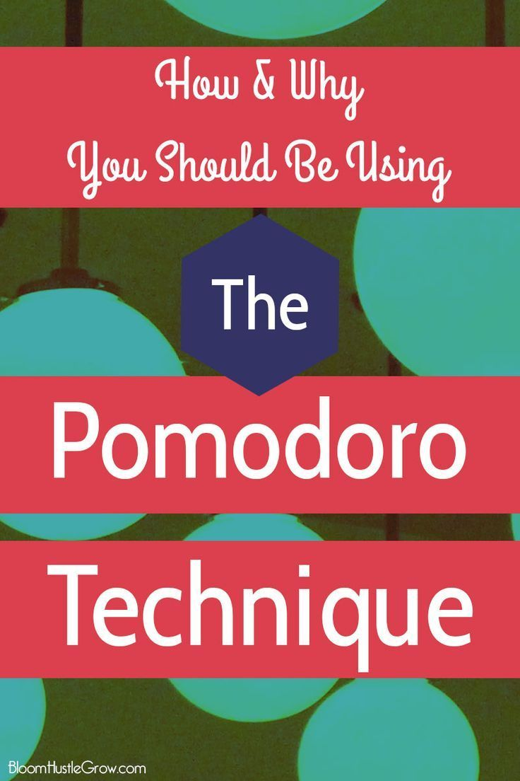 The Pomodoro Technique: How & Why You Should Start Using it NOW. Get focused and up your productivity with this super easy technique, nothing special needed to get started. The Pomodoro Technique trains your brain to focus for short periods without distraction.
