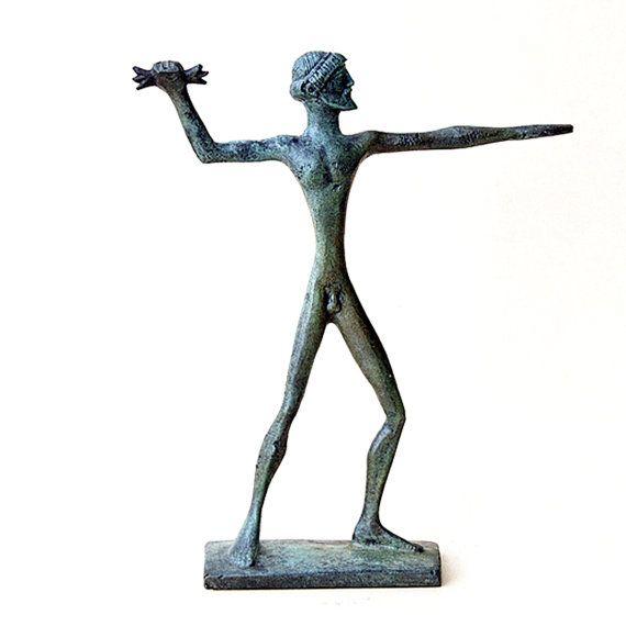 Zeus Jupiter Olympian God with Thunderbolt Bronze by GreekMythos