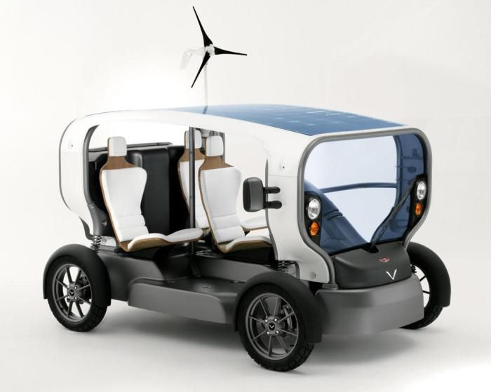 The sun and the wind as an alternative automobile fuel. This is not fantasy with the car, created by French designers and constructors. Solar panels on the roof(...)