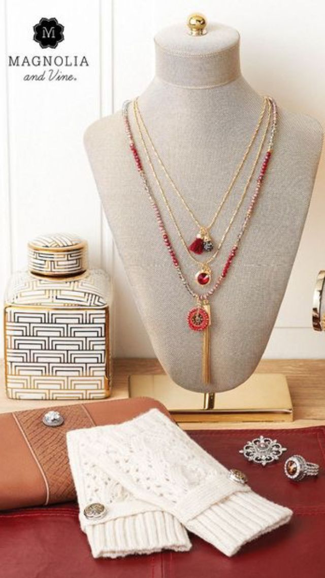 Our Beaucoup Collection is a collection of interchangeable necklace and bracelet strands designed to let YOU create your styles! Shown here is our Ruby/Gold Beaucoup Necklace.  You can view other colors of the Beaucoup necklace at: www.SparkleSnaps.com