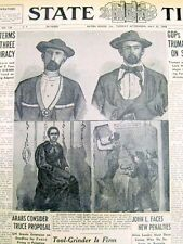 4 1948 display newspapers OUTLAW JESSE JAMES is found still ALIVE in OKLAHOMA