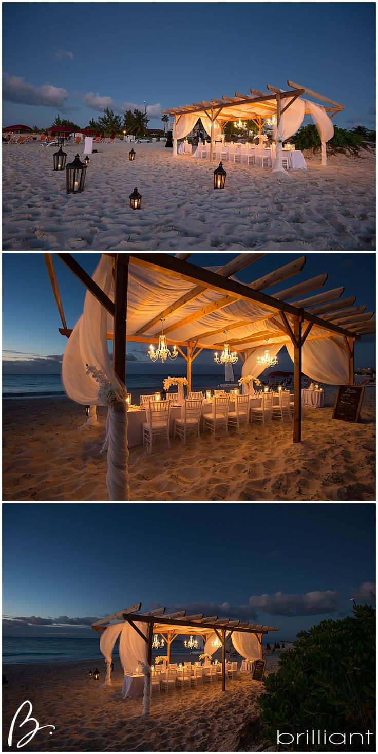 beach wedding reception outdoor chandelier and love the pergola