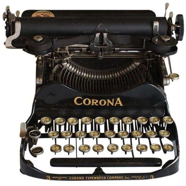 1912 Corona Portable Folding Typewriter ($355) ❤ liked on Polyvore featuring home, home decor, small item storage, typewriters, key bank, antique bank, antique coin bank, coin storage box and antique home decor